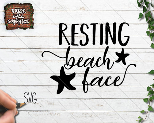 Resting Beach face SVG file, svg files for cricut, silhouette, beach svg file, svg, dxf, iron on