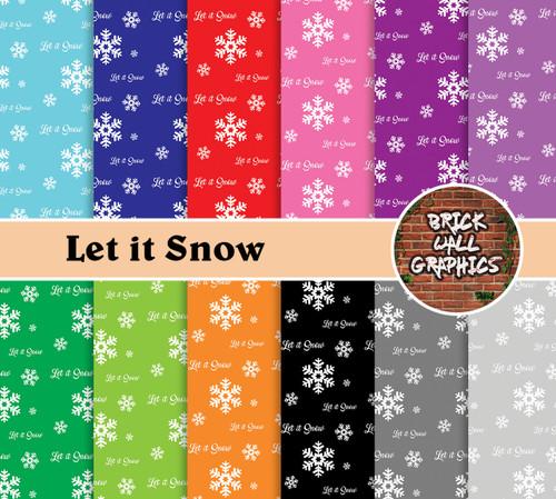 LET IT SNOW DIGITAL SCRAPBOOKING PAPER, DIGI SCRAP, WINTER SCRAPBOOKING PAPER, DIGITAL PAPER