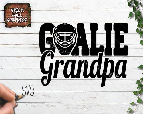 hockey goalie grandpa svg file