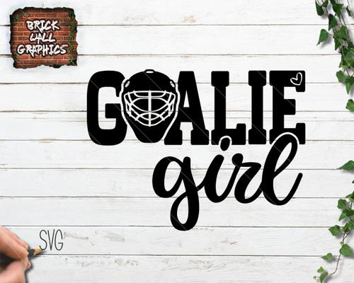 Goalie Girl svg file, hockey svg file, girl hockey svg file