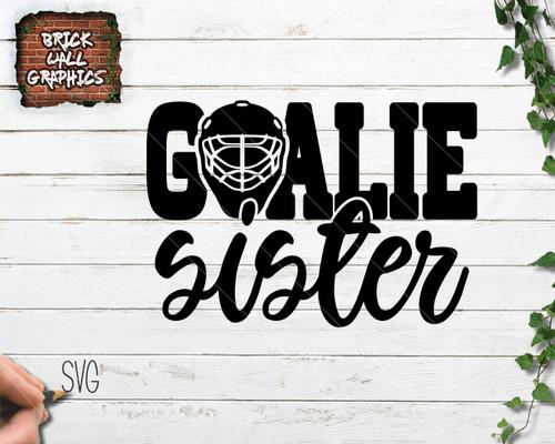 Hockey Goalie Sister SVG File