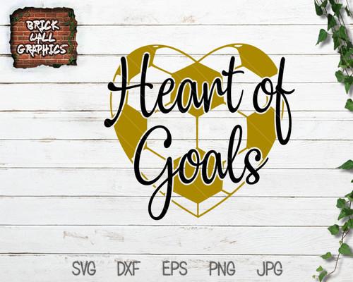 Heart of Goals Soccer Svg File
