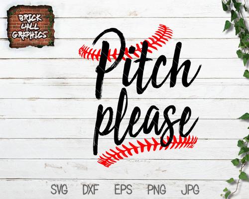 Pitch Please Baseball SVG File