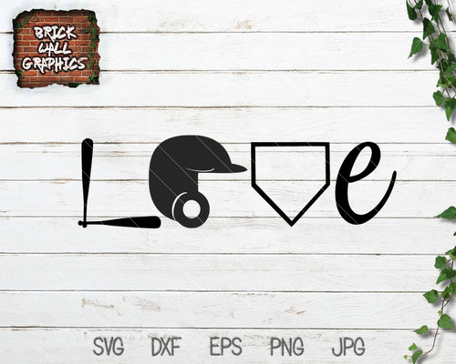 Baseball Love SVG File