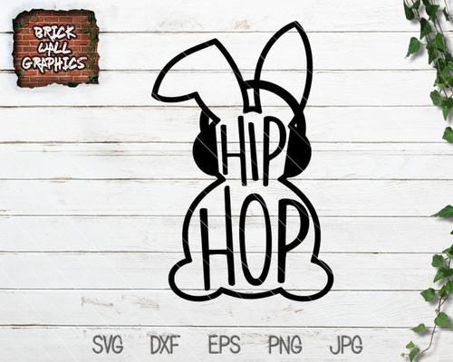 Hip Hop Bunny Easter SVG File