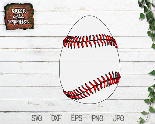 Baseball Easter Egg SVG File