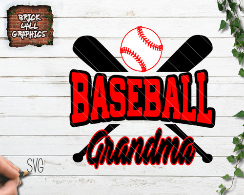 baseball grandma svg file, baseball svg, cricut, silhouette, svg files for cricut