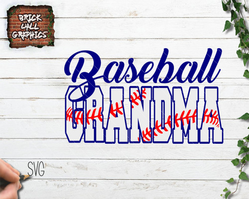 baseball grandma svg file, cricut, silhouette, cut file, iron on