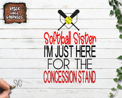 softball sister svg file, softball svg file, svg files for cricut, silhouette, softball dxf file