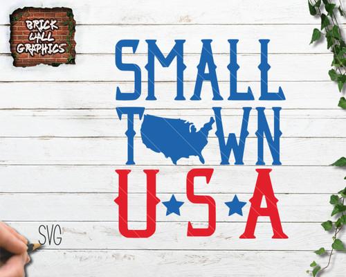 small town usa svg file, usa svg, america svg
