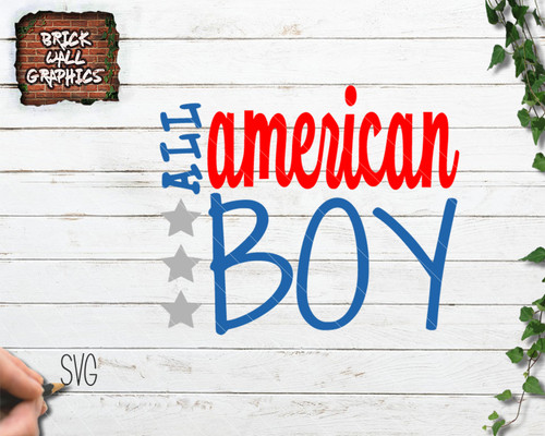All American Boy svg file for cricut and silhouette