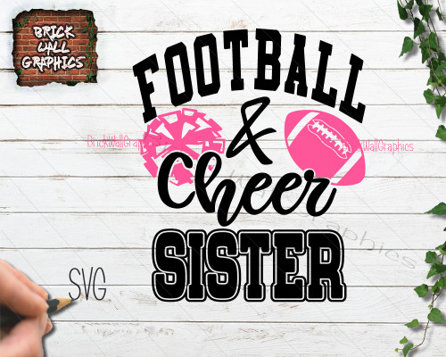 football and cheer sister svg file for cricut and silhouette