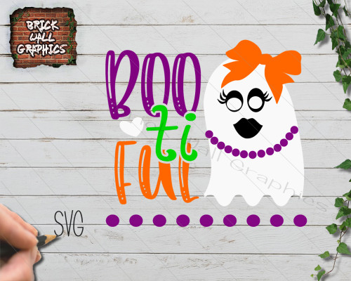Bootiful Halloween svg file, ghost svg file