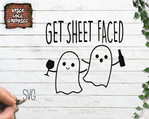 get sheet faced svg file, halloween svg file