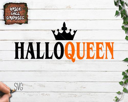 halloqueen svg file, halloween svg, queen svg