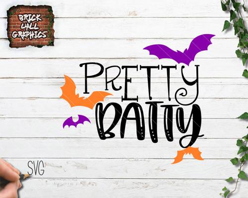 pretty batty svg file, bat svg, halloween svg, halloween dxf
