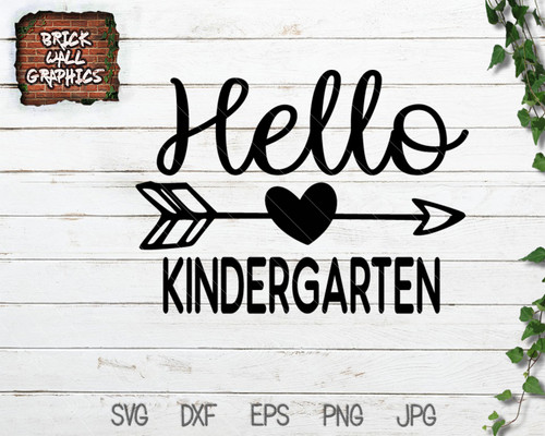 hello kindergarten svg file