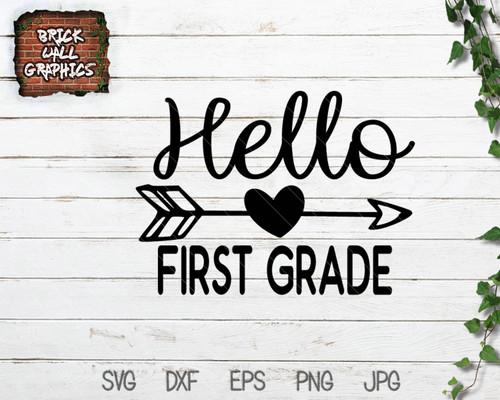 hello 1st grade svg