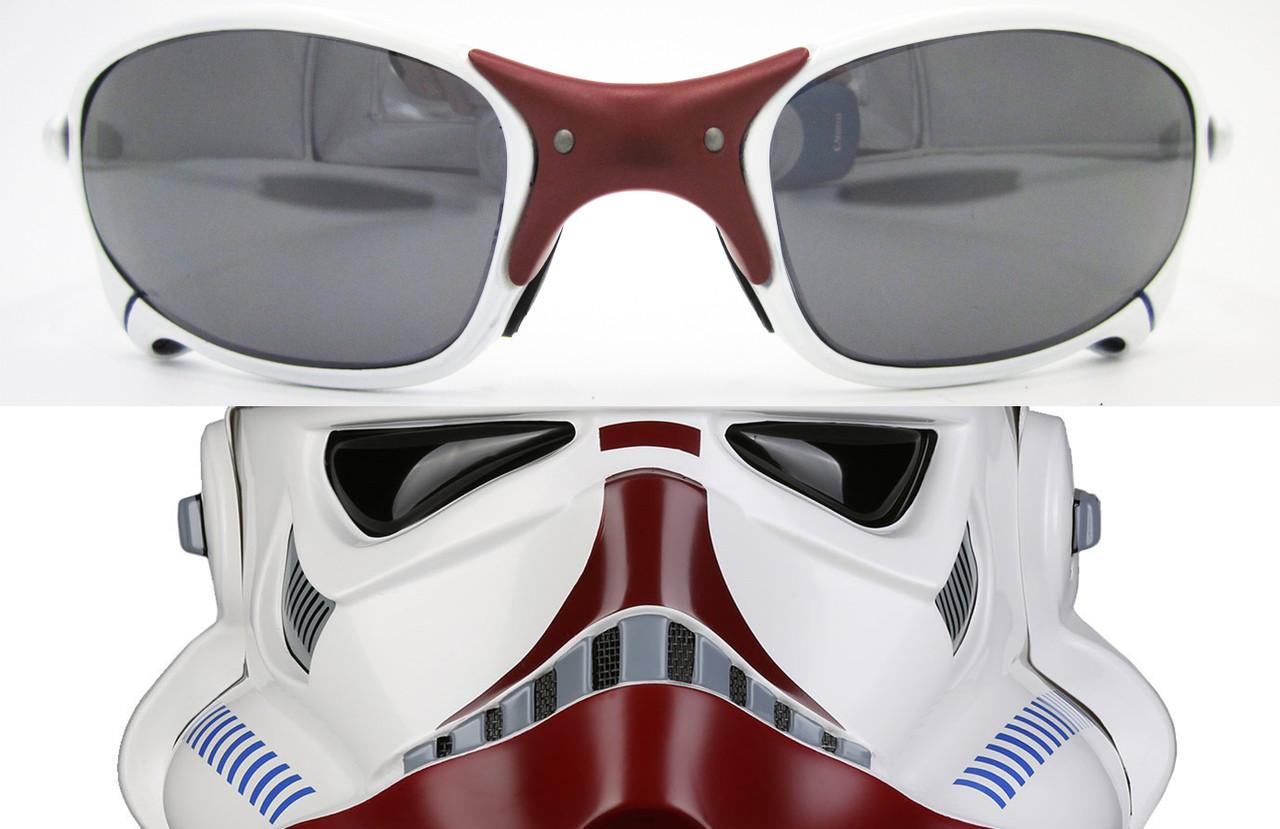 XX X Metal Incinerator Trooper Parody Custom Cerakote in Bright White, Tactical Grey Metallic & Crimson Red