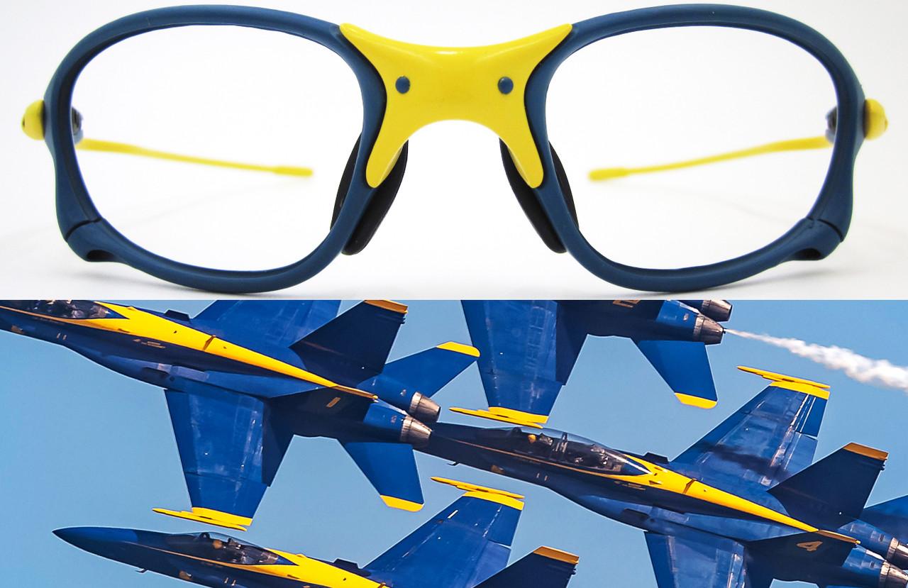 XX X Metal Blue Angels Parody Custom Cerakote in NRA Blue & Corvette Yellow