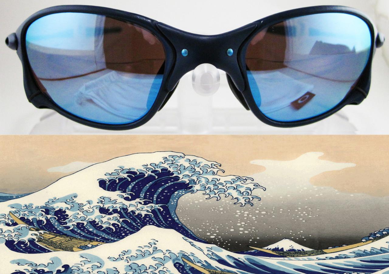 Juliet Kanagawa Wave Parody Custom Cerakote in Kel-Tec Blue & Candy Blue Metallic