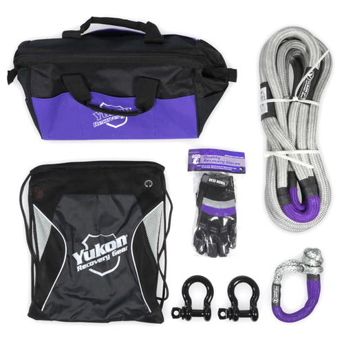 """Yukon Recovery Gear Kit with 7/8"""" Kinetic Rope Tow Strap"""