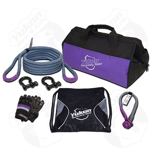 """Yukon Recovery Gear Kit with 3/4"""" Kinetic Rope Tow Strap"""