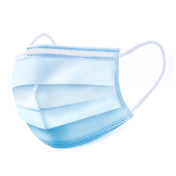 Medical Grade 3-Layer Disposable Face Masks (Packs of 50)
