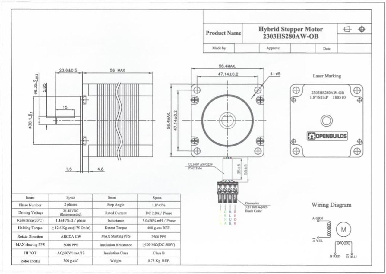NEMA 23 Stepper Motor Nema Stepper Wiring Diagram on