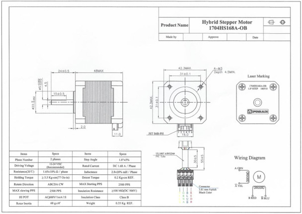 NEMA 17 Stepper Motor