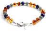 Lapis Lazuli, Bracelet, Sterling 925, Amber, Silver, Baltic, Jewelry, Labradorite, Beaded 3