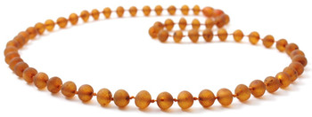 Unpolished, Necklace, Baltic, Amber, Raw, Jewelry, Beaded, Certified, Genuine, Adult