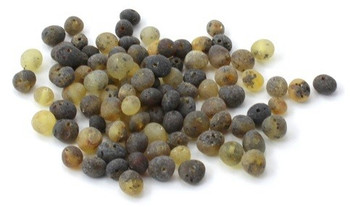 Green, Amber, Unpolished, Beads, Baroque, Supplies, Baltic, Round, Drilled, Raw