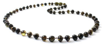 Baltic, Green, Necklace, Jewelry, Adult, Men, Beaded, Amber, Polished