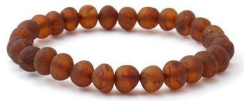 Bracelet, Amber, Stretch, Cognac, Raw, Jewelry, Unpolished, Beaded