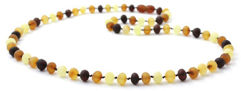 Baltic, Necklace, Mix, Multicolor, Raw, Unpolished, Baroque, Adult, Men, Jewelry