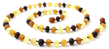 Baltic, Necklace, Mix, Multicolor, Raw, Unpolished, Baroque, Adult, Men, Jewelry 2