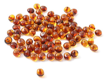 Beads, Cognac, Baltic, Loose, Amber, Polished, Adult, 4 5 6 7 mm, Baroque, Drilled