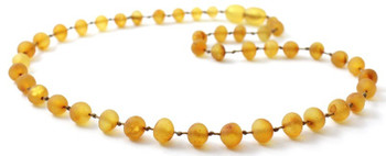 Honey, Necklace, Unpolished, Baltic, Amber, Kids, Jewelry, Teething, Raw, Beaded