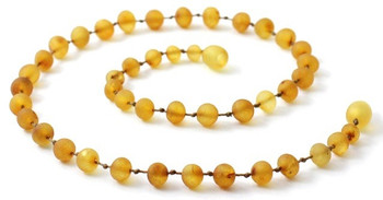 Honey, Necklace, Unpolished, Baltic, Amber, Kids, Jewelry, Teething, Raw, Beaded 2