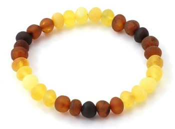 Bracelet, Stretch, Rainbow, Amber, Modern, Baltic, Jewelry, Adult, Raw, Unpolished 2