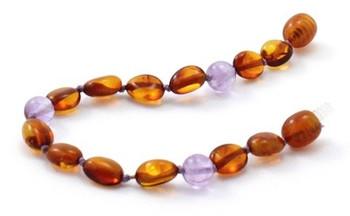 Bean, Amethyst, Bracelet, Polished Cognac, Anklet, Baltic Amber, Violet, Teething 2