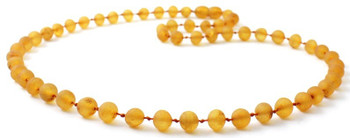 Baroque, Raw, Honey, Necklace, Beaded, Unpolished, Amber, Baltic, Genuine