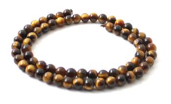 Round Tiger Eye 6 mm Gemstone Beads