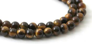 Round Tiger Eye 6 mm Gemstone Beads 2