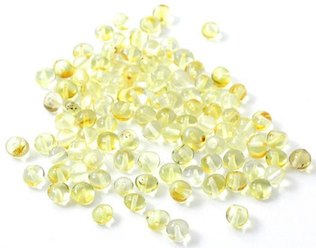 Lemon, Beads, Amber, Yellow, Polished, Champagne, Clear, Baltic, Baroque