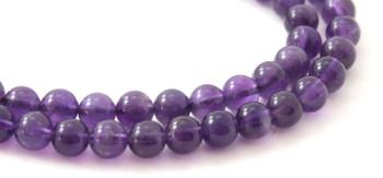 Amethyst, Gemstone, Strand, Beads, 6 mm, 6mm, Round, Dark