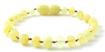 Anklet, Amber, Bracelet, Milky, Butter, Beaded, Teething, Polished, Jewelry