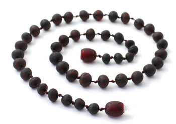 Cherry, Baroque, Necklace, Black, Beaded, Raw, Unpolished, Teething, Amber, Baltic 2