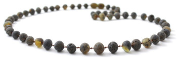 Necklace, Jewelry, Green, Raw, Beaded, Unpolished, Amber, Men, Baltic